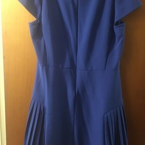 Maison Jules royal blue pleated dress